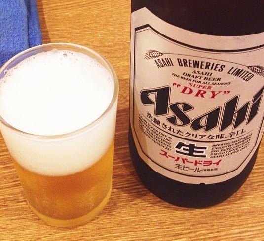 御徒町-たきおか3号店-瓶ビール-0815