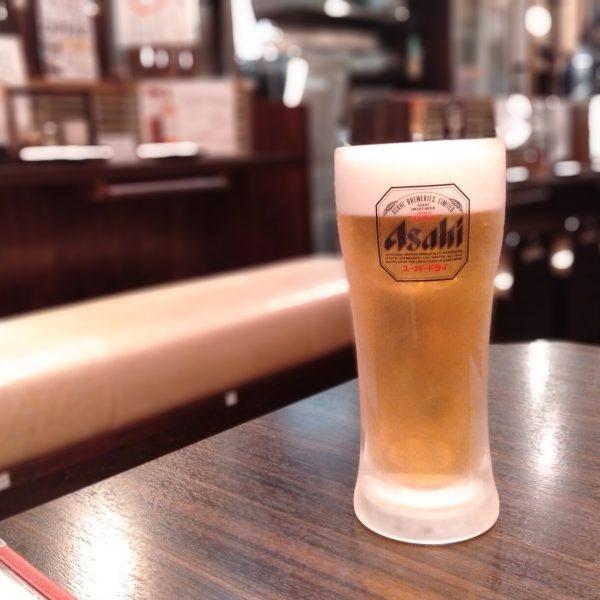 名駅_かどまつ_生ビール