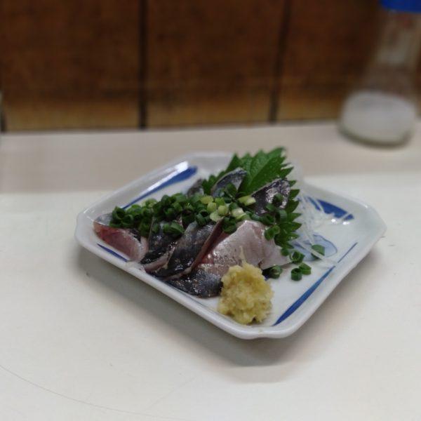 綾瀬-駅前酒場-アジ刺し