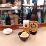 金山-大安-瓶ビールとポテサラ