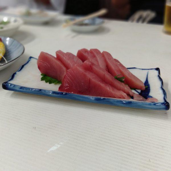 柳橋-魚源-メジマグロ刺し