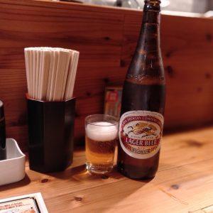 今池-きも善-瓶ビール