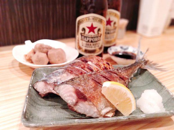 岩塚-三丁目酒場-焼魚-0626
